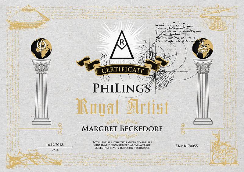 Zertifikat von Margret Beckedorf über Teilnahme an der PhiLings Schulung