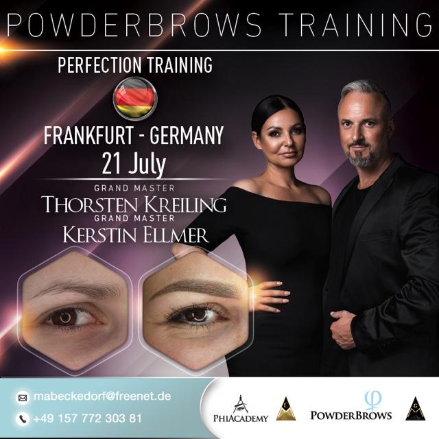 Plakat PowderBrows Training in Frankfurt am 21.07.2019
