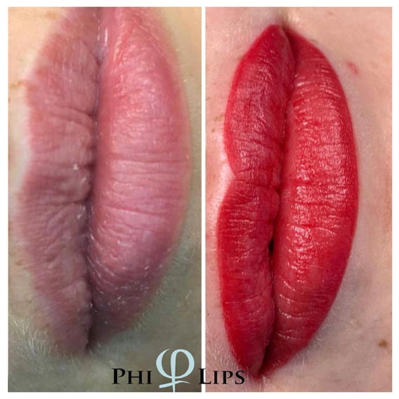 Nachher-Bild Lippenbehandlung mit Permanent Make-up PhiContour