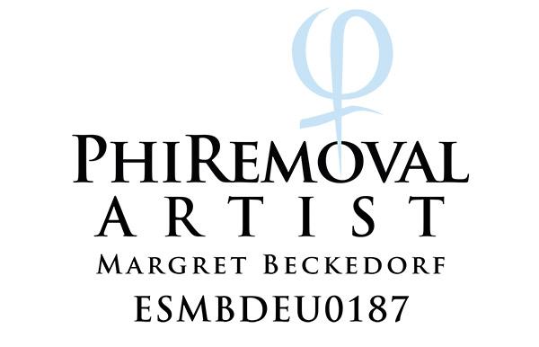 Zertifikat von Margret Beckedorf über Qualifikation zur PhiRemoval Artistin