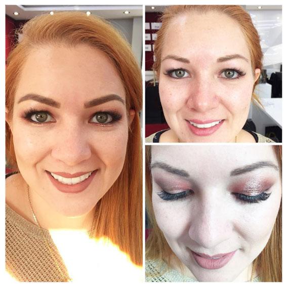 Vorher-Nachher-Bild Make-up von Kosmetik à la carte