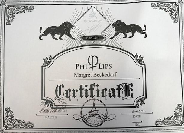 Zertifikat von Margret Beckedorf über Teilnahme an PhiLips Schulung